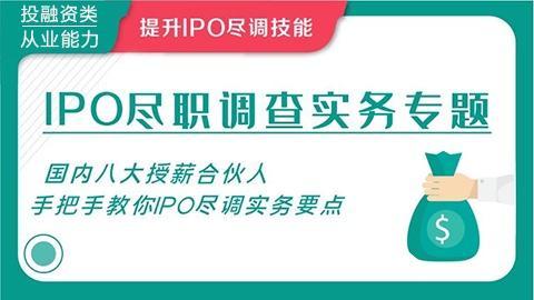 IPO尽职调查实务专题